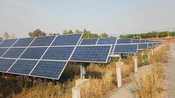 painéis solares, células solares, lapso de tempo