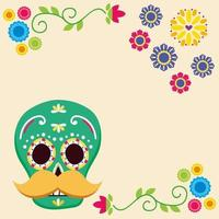 Mexican skull vector design