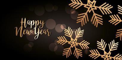 Happy new year celebration banner vector