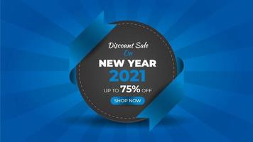 New year 2021 fashion sale colorful web banner template vector
