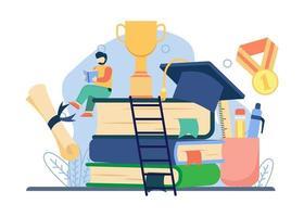 concepto de conocimiento educativo vector
