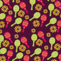 Mexican maracas pattern background