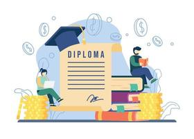 Scholarship landing page concept vector