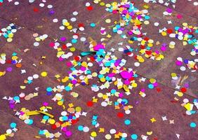 Colorful paper cutouts or confetti
