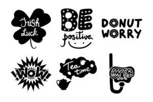 Social media vector stickers set