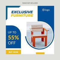 Social Media Furniture Clean Design vector