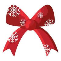 happy merry christmas bow with snowflakes