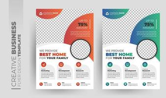 Modern corporate business flyer and brochure cover design vector