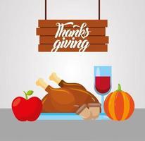 Happy thanksgiving day vector design