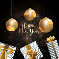 Happy new year vector design