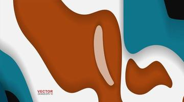 Vector background of abstract geometric shapes. Wave texture