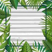Tropical frame background. vector