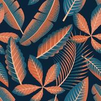 Tropical seamless pattern. vector