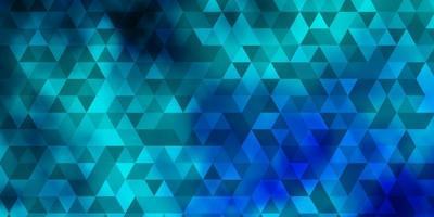 Fondo de vector azul claro, verde con estilo poligonal.