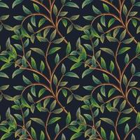 Tree Branches Seamless Pattern. vector