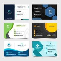 Collection of Name Cards vector