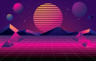 Classic Retro Futurism Background Concept vector