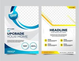 Business Flyer Template with Mockup vector