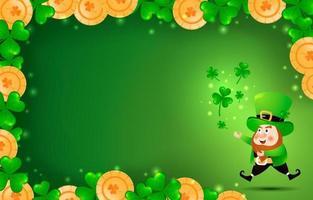 St. Patrick's Day Leprechaun Background vector