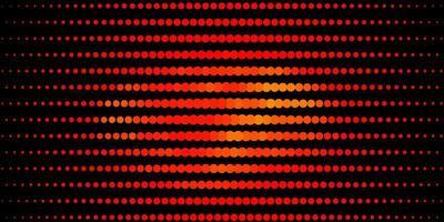 patrón de vector naranja oscuro con círculos.
