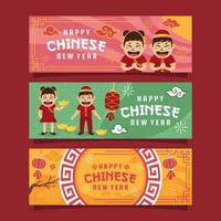 Expressions of Happy Chinese New Year Celebration vector