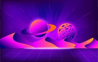 Retro Futurism Modern Background vector