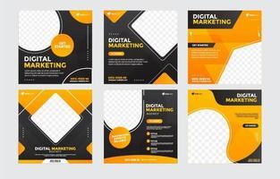 plantilla de publicación de marketing digital empresarial vector