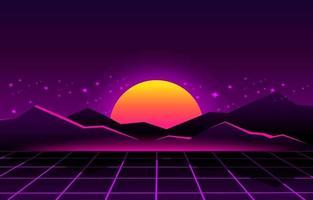 Abstract Retro Futuristic Background