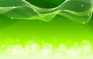 Green Line Wave and Sparkling Background vector