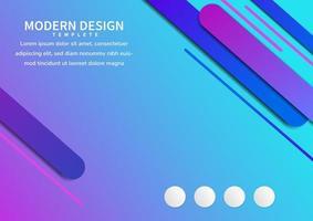 plantilla azul y rosa geométrica línea redondeada diagonal dinámica superpuesta fondo. vector