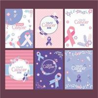 World Cancer Card Collection vector