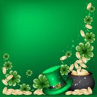 Background Of Saint Patricks Day With Leprechaun Hat vector