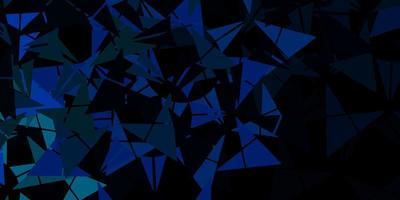 Fondo de vector azul claro, verde con triángulos.