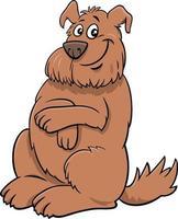 cartoon happy brown shaggy dog animal character