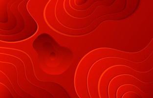 fondo de formas de onda de corte de papel rojo vector