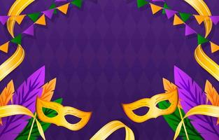 Mardi Gras Festivity with Purple Background vector