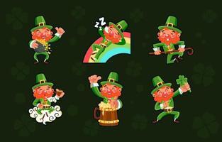 Lucky Fun Leprechaun Package vector