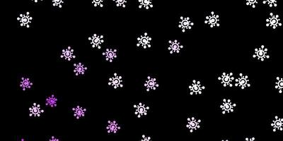 plantilla de vector de color púrpura oscuro con signos de gripe.