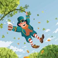 Cartoon Funny Leprechaun vector