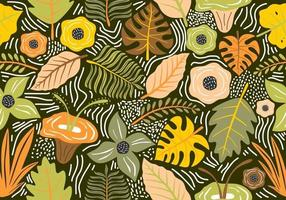 Seamless vintage pattern with decorative flowers. vector