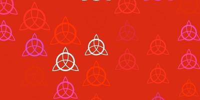 Light Pink, Red vector texture with religion symbols.