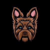 French dog head mascot vector