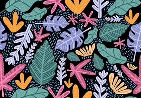 Seamless vintage pattern with bright colorful flowers. vector