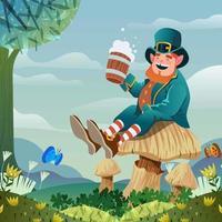 St. Patrick's Day Leprechaun vector