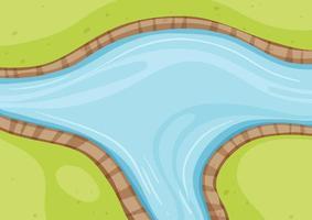 vista aérea del río de cerca vector
