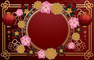 Happy Chinese New Year Background Concept vector