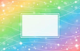 Gradient Rainbow Background with Frame and Wave Pattern Composition