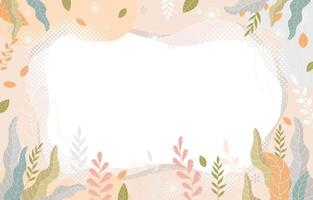 Retro Floral Background With Pastel Color vector