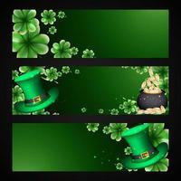 Set Of Saint Patricks Day Sale Banner Design Template