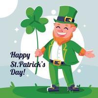 Flat Saint Patrick's Day Illustration vector